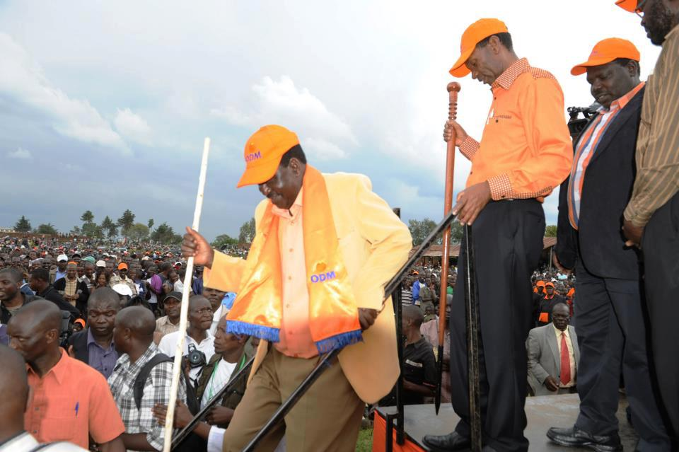 ODM candidate at rally