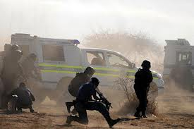 South African police 'shot miners to protect themselves'