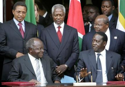 Kofi Annan pushes for full implementation of the constitution ahead of the general elections