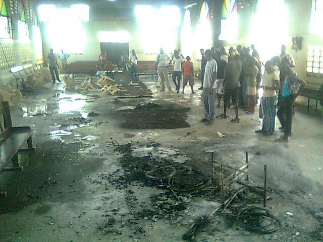 PCEA Church, Kisauni Mombasa after it was vandalized today.