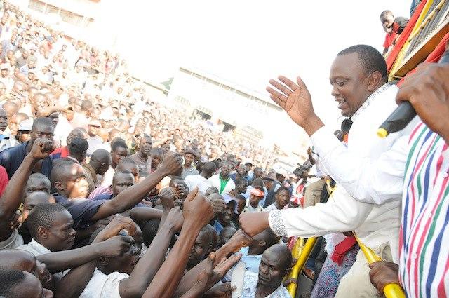 Uhuru Kenyatta gets a warm welcome in Kisumu