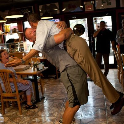 Brotherly love for President Obama from a pizzeria owner