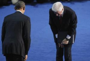 Bill and Barack, humbling moments at the DNC 2012