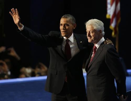 Presidents Bill Clinton & Barack Obama, DNC 2012