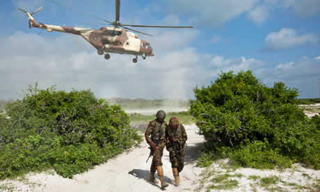 Kenyan troops launch beach assault on Somali city of Kismayo