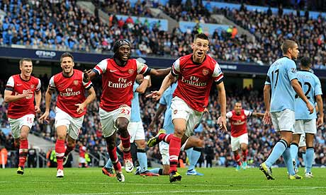 Laurent Koscielny rescues point for Arsenal at Manchester City