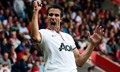 Robin van Persie scores hat-trick as Manchester United beat Southampton