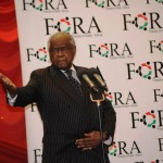 Former powerful AG Charles Njonjo at a Raila fundraiser dinner