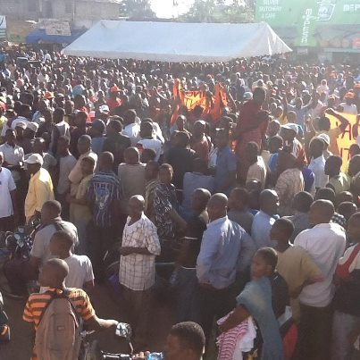 A section of the crowd that attended ODM rally in Ukunda