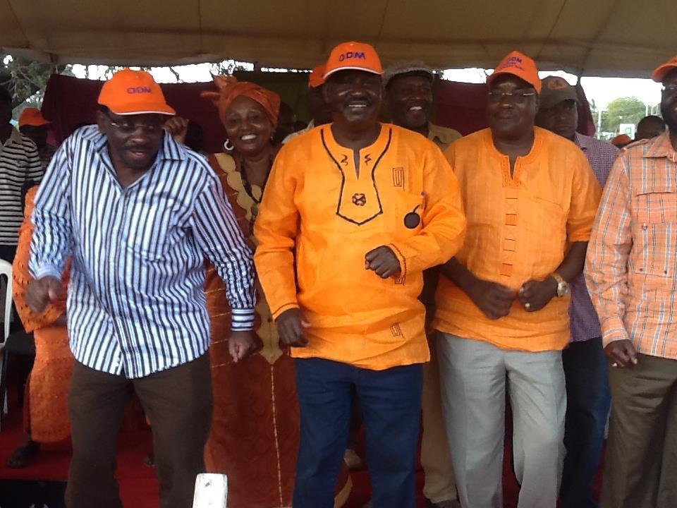 ODM leader Raila Odinga at a rally in Ukunda Kwale County