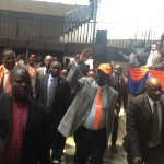 PM Raila arrives at Nyayo stadium for a Nairobi County aspirants meeting.