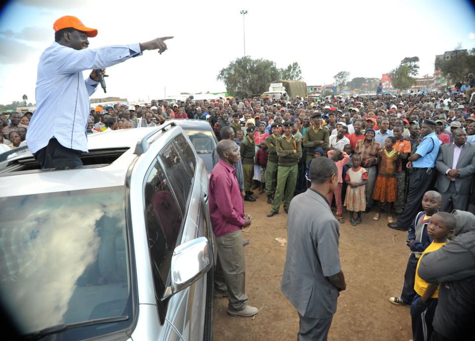 ODM Leader, PM Raila Odinga in Kajiado