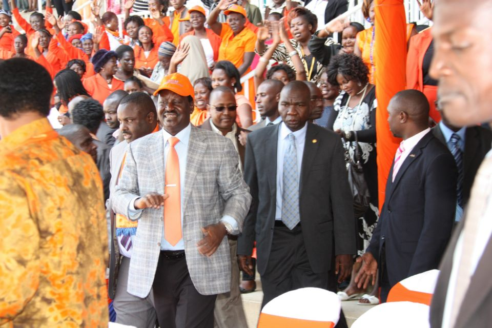 PM Raila at Nyayo stadium meeting Nairobi ODM aspirants