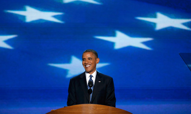 President Obama accepts the Democratic presidential nomination