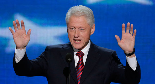 Bill Clinton gives thumping endorsement to Barack Obama