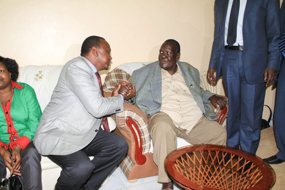 TNA supremo Uhuru Kenya visiting ailing KNUT Secretary General David Okuta