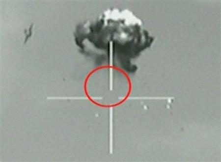 Raw Video: Israel shoot down unmanned drone with precision