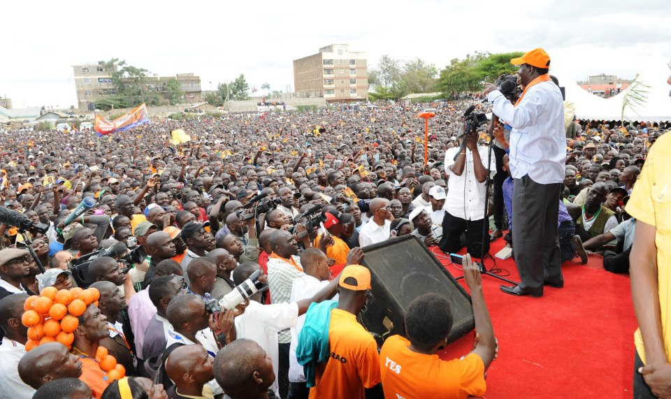 Raila Odinga reloading his party in Dandora Nairobi