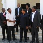 Uhuru Kenyatta, TNA delegation with Presidenet Jakaya Kikwete