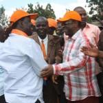 ODM supremo Raila Odinga with Amos Wako at ground zero- Busia County