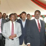 The CORD team leaders arrive at the Nairobi Chapel for a sunday service.