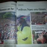 Jubilee Alliance leaders at NDC Kasarani
