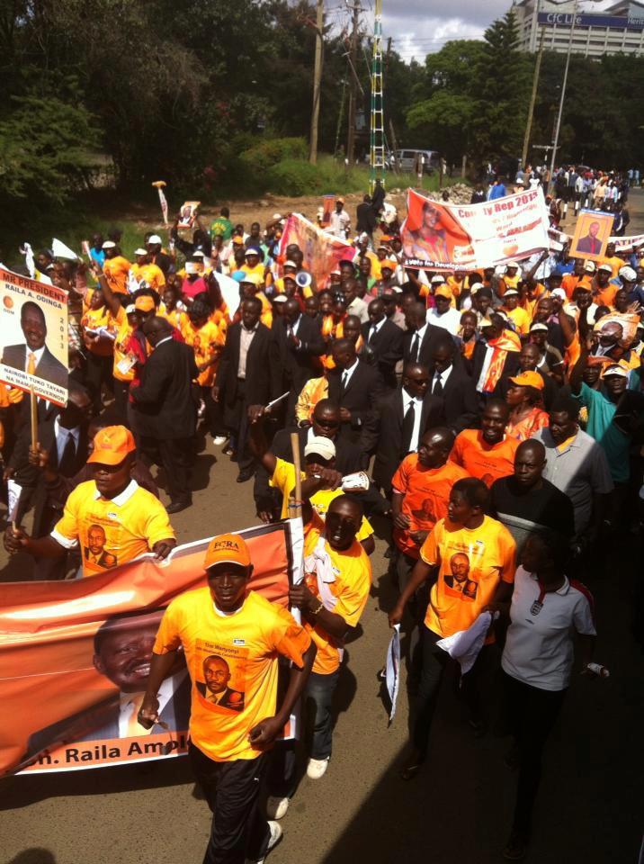 CORD Launch: Wanainchi Matching to Uhuru Park