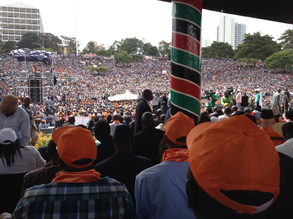 CORD launch: Sea of humanity at Uhuru Park