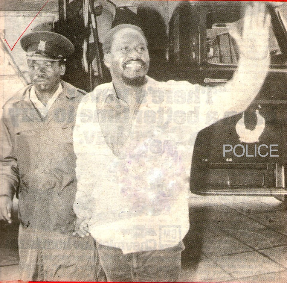 Picture of the day: Young Raila led a way by the police during the Nyayo era