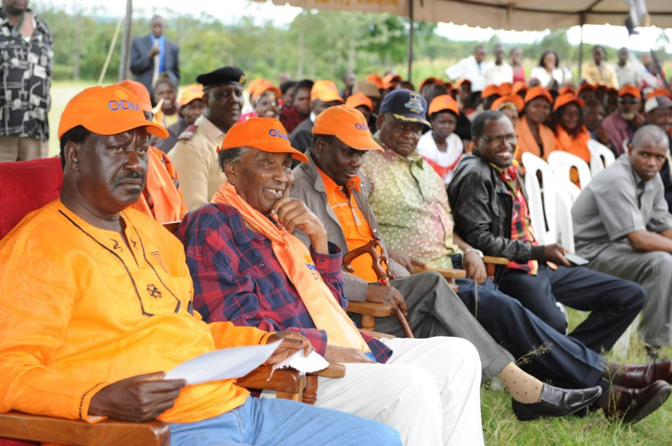 RAO with hon. Ntimama at a rally in Transmara