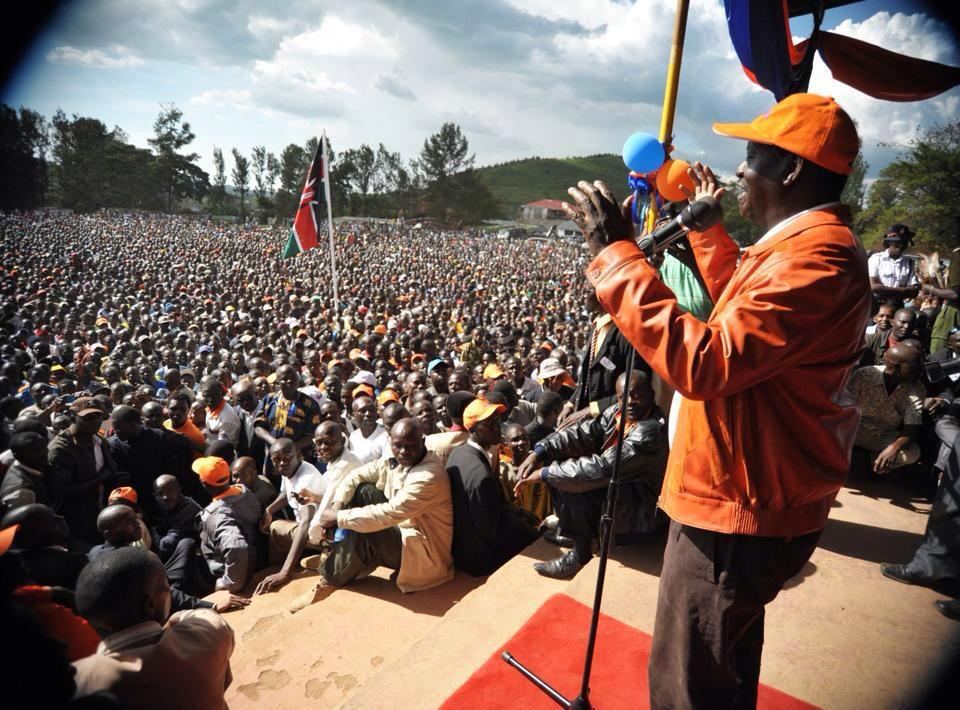 Raila Odinga at ground zero- Migori county.