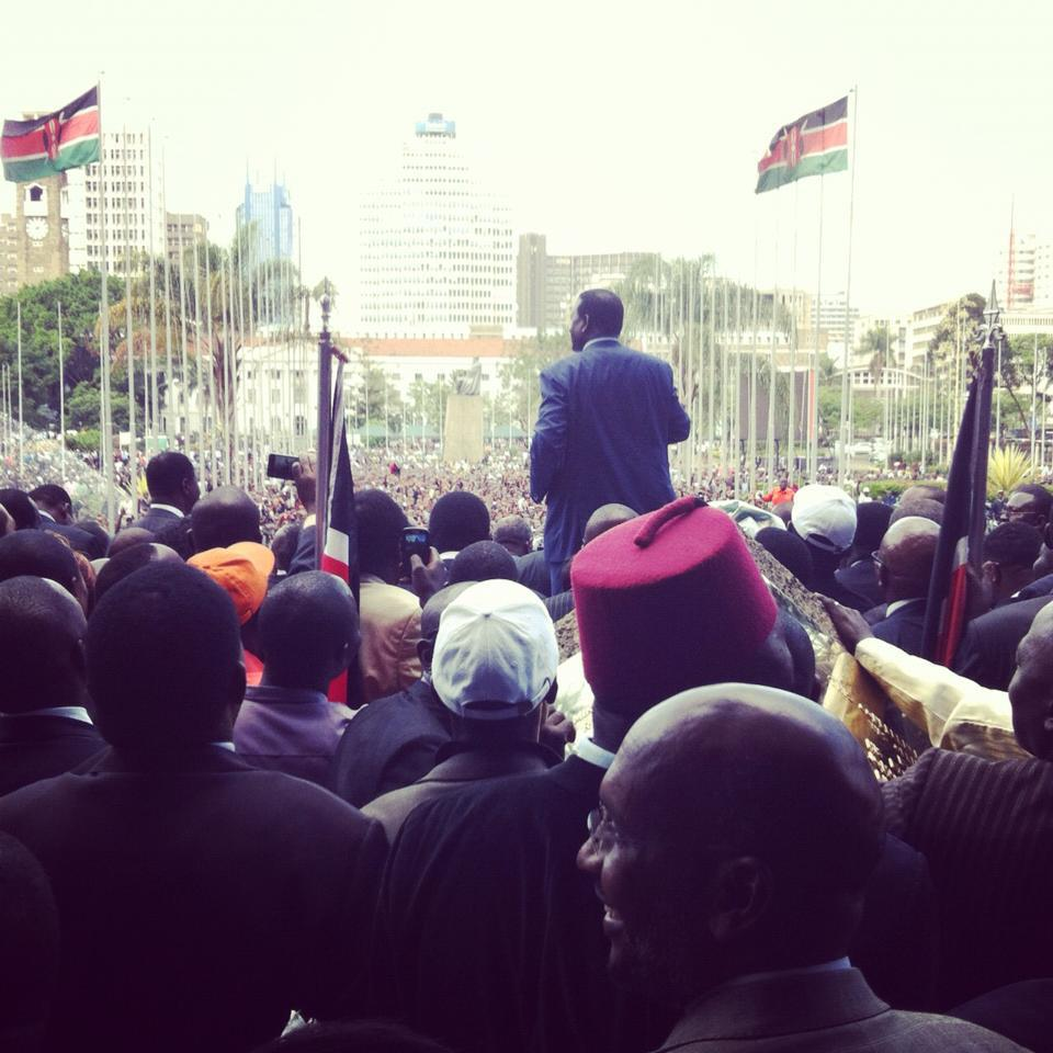 Thousands arrive at KICC to witness ODM+ Wiper