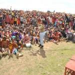 CORD supremo Raila Odinga at arally in Loita- Narok county