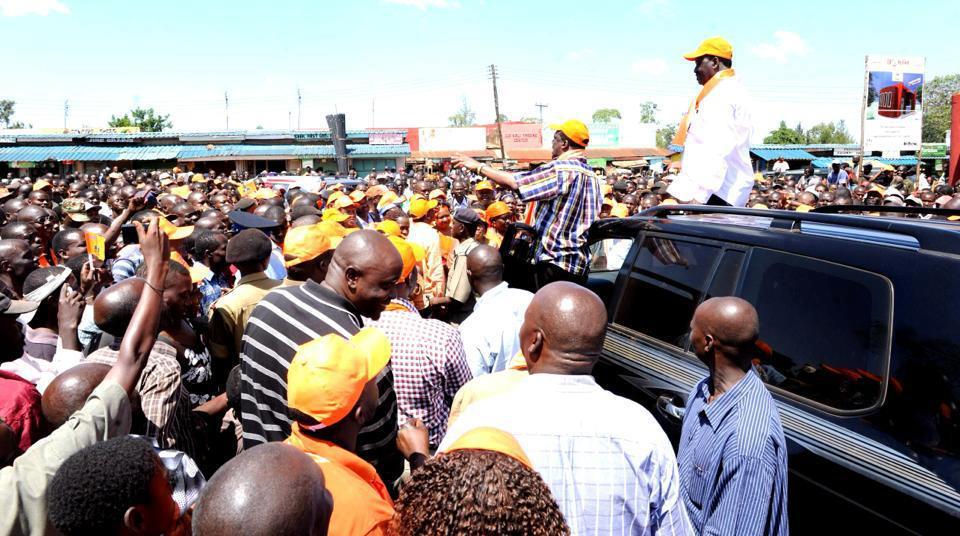 Raila Odinga at ground zero- Vihinga county