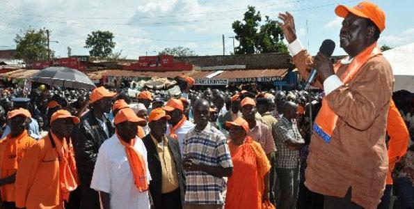 Video: Raila Odinga's tour of Western Kenya