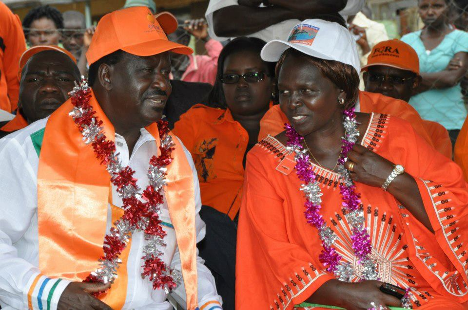 Prime Minister Odinga With Prof Kamar At   A Mini Rally In Kesses
