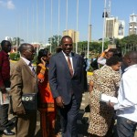 DR Kidero Arriving at KICC for the CORD Manifesto Launch