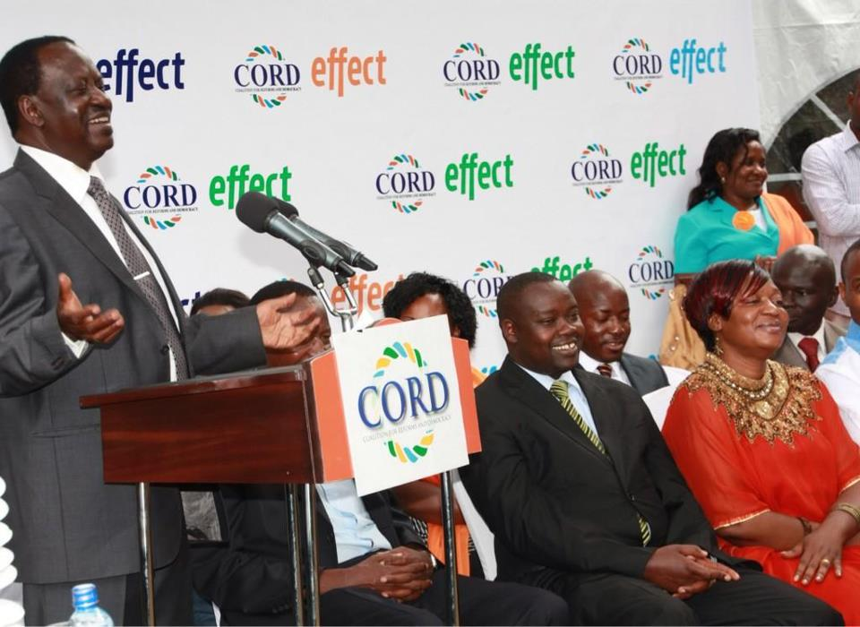 "Raila Odinga At The ""CORD Effect"" Launch"