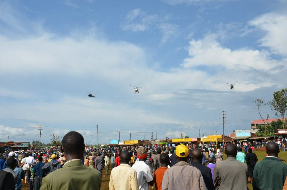 Choppers helped pull reluctant Gusii electorate to Jubilee rallies