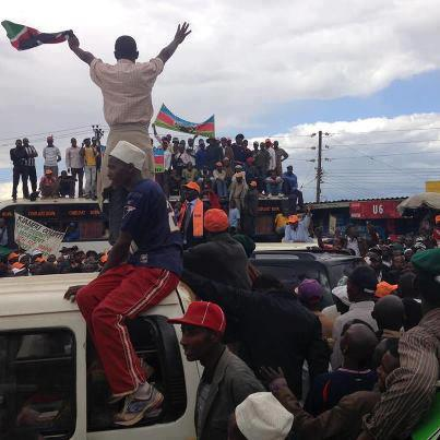 Raila gets a warm welcome in Nyeri County
