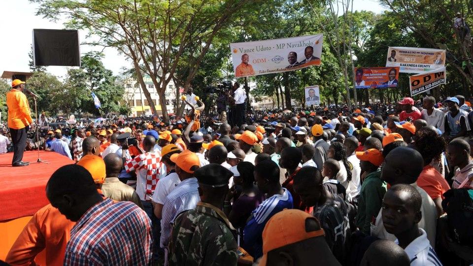 Raila CORDing Western Kenya At Masinde Muliro Gardens