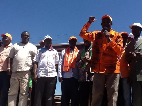 CORD leaders forced to address several impromptu rallies – mega crowds
