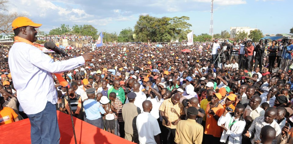 Bungoma Posta Grounds flooded with humanity- Raila Odinga addressed the mammoth crowd