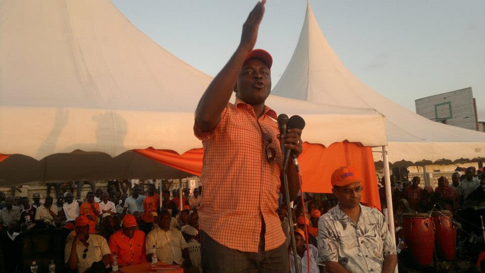 ODM Changamwe-MP aspirant Godfrey Ingala Nengo putting his best foot forward.