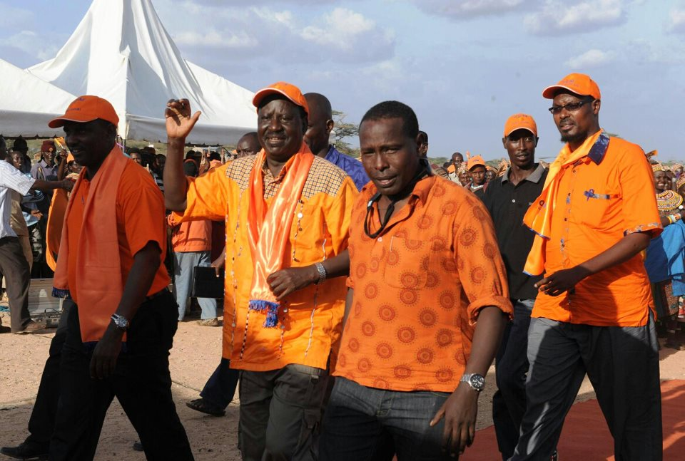 Raila Odinga in Laisamis town-Marsabit county