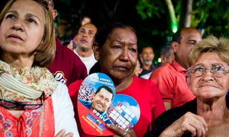 Hugo Chávez fights for life as supporters pray in Venezuela