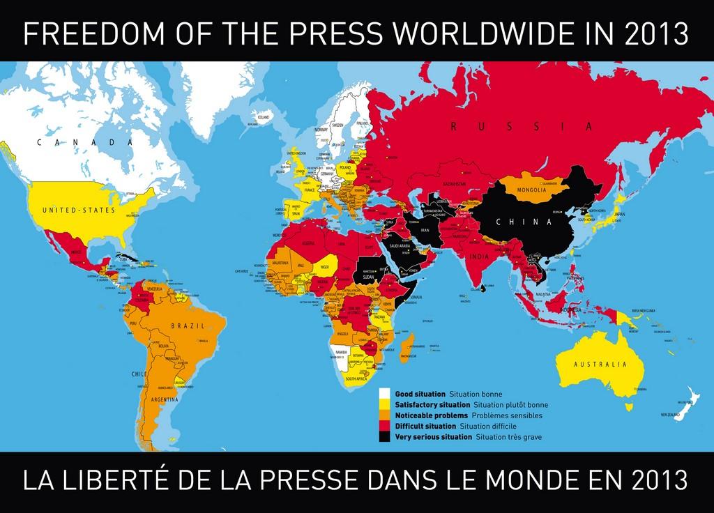 Press freedom World map
