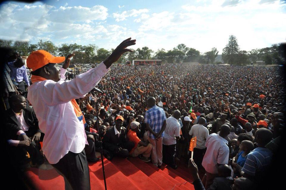 Raila Steps In To Save Kajwang In Homabay Rally