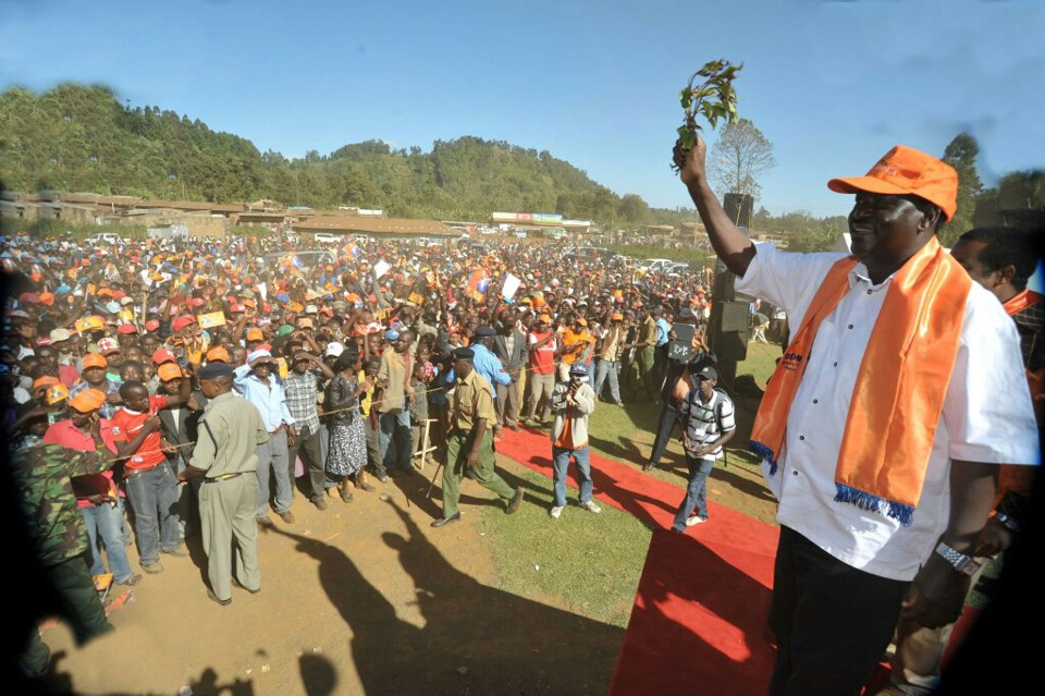 The Raila Odinga's CORD Gets A Super Reception In Meru
