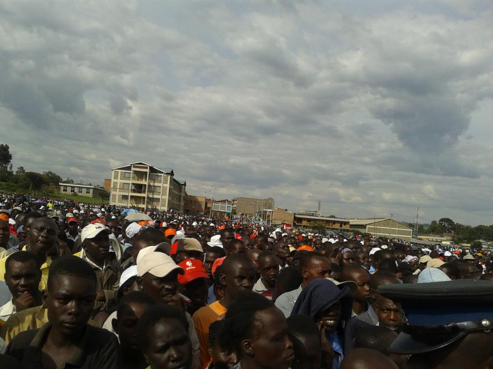 Raila Odinga Gets Amazing Reception In Rift Valley